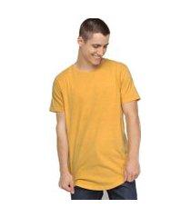 camiseta amarelo mostarda longline masculina 100% algodão di nuevo
