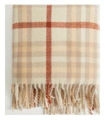mango women's check scarf