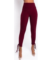akira flawless ruched side tie legging