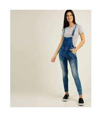 macacão feminino bolsos zune jeans