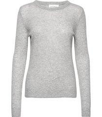pure cashmere o-neck pullover stickad tröja grå sparkz copenhagen