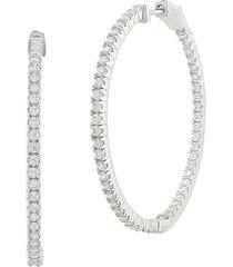 jan-kou women's cubic zirconite hoop earrings