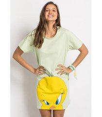 camisola manga curta acuo camisola manga curta verde - verde - feminino - dafiti