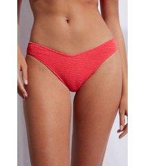 calzedonia high cut brazilian swimsuit bottom miami woman red size 4