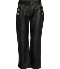 day scilla leather leggings/broek zwart day birger et mikkelsen