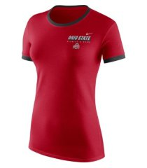 nike women's ohio state buckeyes ringer t-shirt