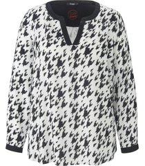 blouse met lange mouwen van frapp wit