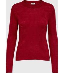 sweater jacqueline de yong rojo - calce regular