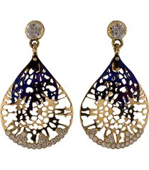 gorgonia diamond and titanium earrings