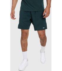 pantaloneta verde reebok essentials - 7 pulgadas
