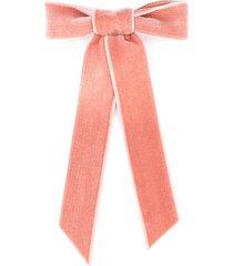 jennifer behr velvet hair bow - pink