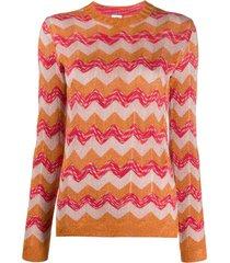 m missoni suéter com bordado chevron - laranja