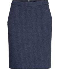 d1. herringb jersey skirt kort kjol blå gant