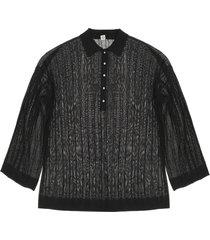totême rib knit polo sweater