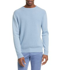 men's eidos trim fit waffle knit cashmere crewneck sweater