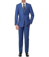 slim-fit premium wool suit