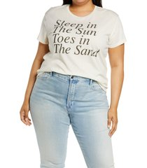 chaser sun & sand graphic jersey tee, size 3x in au lait at nordstrom