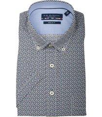 bos bright blue korte mouw blouse 106670/224