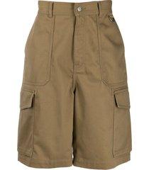 ami paris patch pocket bermuda shorts - neutrals