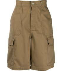 ami paris patch pocket bermuda shorts - neutrals