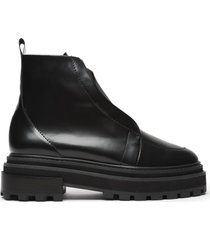 johan leather bootie - 10 black leather