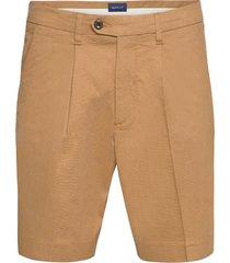 d1. structured cotton pleat shorts shorts chinos shorts beige gant