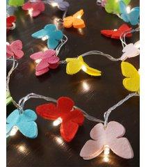 cordão de luz - luz de fada borboletas coloridas led bivolt