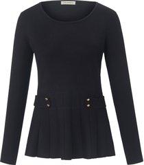 trui met ronde hals en lange mouwen van uta raasch zwart