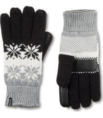 women's lined water repellent snowflake gloves