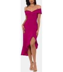 xscape off-the-shoulder midi dress