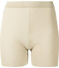 jacquemus arancia ribbed-knit shorts