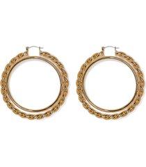 women's vince camuto textured interlocking hoop earrings