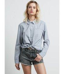 overhemd volcom women's cham ls shirt stp