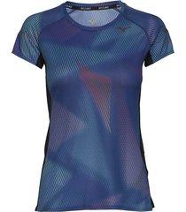 aero graphic tee w t-shirts & tops short-sleeved blå mizuno