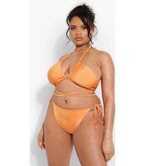 plus tropicana bikini top met bandjes, orange