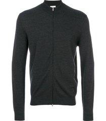 fashion clinic timeless zip cardigan - grey