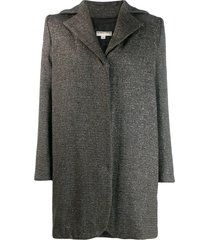 romeo gigli pre-owned 1990's structured oversized coat - grey