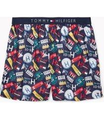 tommy hilfiger men's cotton classics fashion boxer yacht club blue - xl