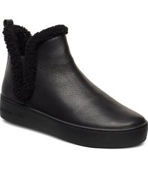 ashlyn slip on shoes boots ankle boots ankle boot - flat svart michael kors shoes