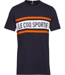 ess saison tee ss n2 m t-shirts short-sleeved blå le coq sportif