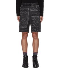 x dr woo belted nylon shorts