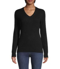 saks fifth avenue women's v-neck cashmere sweater - poinsettia - size xs