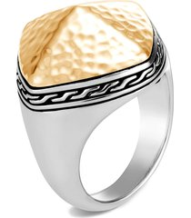 women's john hardy classic chain hammered two-tone sugarloaf ring