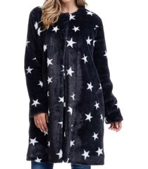fever stars faux fur coat