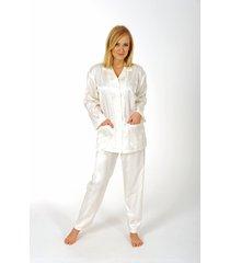 dames pyjama normann satijn 94010-s 36/38-donker blauw