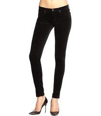 legging velvet skinny jeans