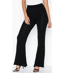 topshop knitted ribbed trousers byxor