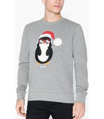 jack & jones jorsnowfall sweat crew neck tröjor ljus grå