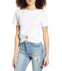 women's urban nation o-ring crop tee