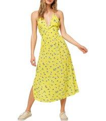 women's o'neill solstice floral halter midi dress